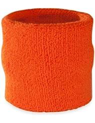 Suddora - Muñequeras, algodón,1 unidad, naranja