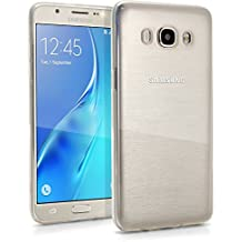 igadgitz Transparente Claro Lustroso Funda Carcasa Gel TPU para Samsung Galaxy J5 2016 J510FN Case Cover + Protector Pantalla