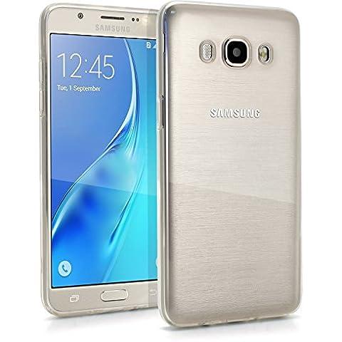 igadgitz Transparente Claro Lustroso Funda Carcasa Gel TPU para Samsung Galaxy J5 2016 J510FN Case Cover + Protector