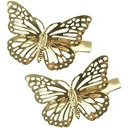 HABI 10 stk Haarspange Schmuck Schmetterling für Damen &Mädchen
