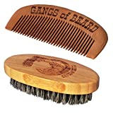 Gangs of Beard Bamboo Comb and Boar Bristle Brush Combo