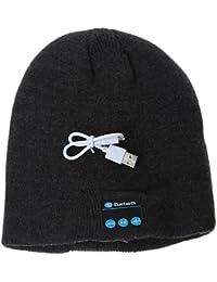 EOZY Bonnet Bluetooth Écouteur Tricot Unisexe Homme Chapeau Femme Hiver