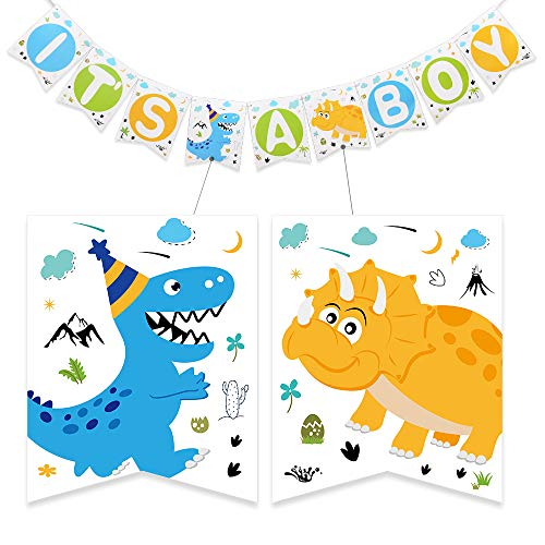 -Partybedarf Baby Shower IT'S A Boy Banner, Baby-Dusche-Party Dekorationen für Jungen, Vorgespannt ()