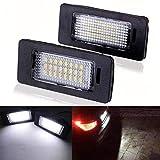 GOFORJUMP 2 Teile/Satz Kofferraum LED Kennzeichenbeleuchtung 24 LEDs Lampe für B/MW E39 E60 E90 X Serie DXY88