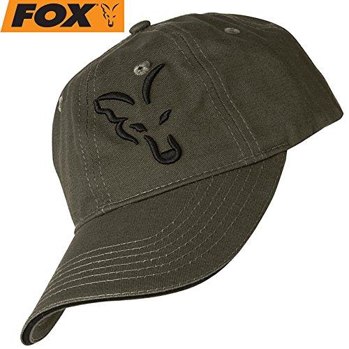 Fox Green/Black Baseball Cap - Anglercap für Karpfenangler, Cappy für Angler,...