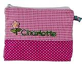 Mein-Name Kinder Kulturtasche mit Name in Pink 21x16 cm