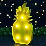 Süße LED Nachtlicht Stimmungslicht Weihnachtsdeko Tischdeko Wanddeko Tischlampe Deko von Babyzimmer Kinderzimmer Dekorationen Weihnachts Geschenke von Colleer (Ananas)