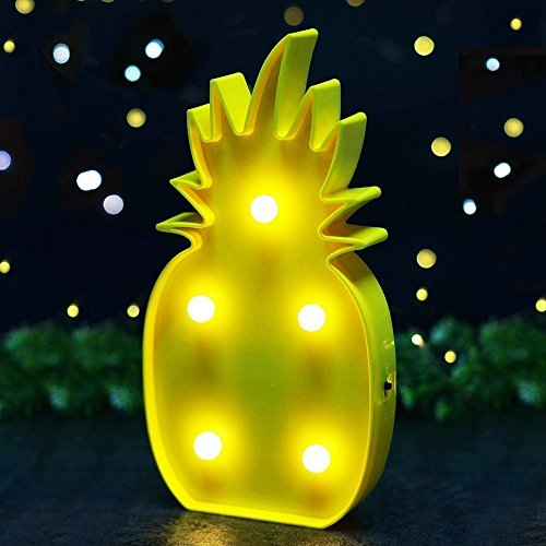 Süße LED Nachtlicht Stimmungslicht Weihnachtsdeko Tischdeko Wanddeko Tischlampe Deko von Babyzimmer Kinderzimmer Dekorationen Weihnachts Geschenke von Colleer (Ananas) (Süße Licht Kleine)
