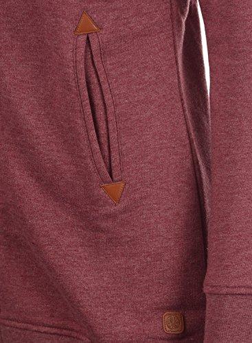 DESIRES Vicky Straight-Zip Damen Lange Sweatjacke Kapuzenjacke Sweatshirtjacke Mit Kapuze Und Fleece-Innenseite, Größe:XS, Farbe:Wine Red Melange (8985) - 6