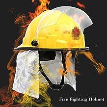 KKmoon Casco de seguridad para Frie; Fuego cabeza protección; Prueba bombero casco de seguridad con Amito descarga eléctrica Prevención ignífugo Pierce resistencia Fire Fighting Casco
