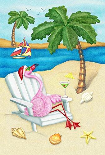 andy Christmas Garden Flagge (Yard Rosa Flamingos)