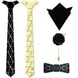 #10: Emirate Luxury HexTie Combo with HexBow, Pocket Square and Lapel Pin(C1_DC_GB_N1)