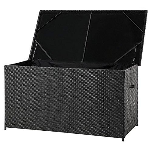 Beliani Auflagenbox Rattan braun 160 x 80 cm MODENA