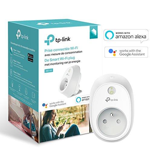 TP-Link Prise connectée WiFi avec suivi de conso d'énergie HS110