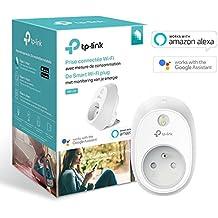 TP-Link Prise connectée WiFi avec mesure de consommation, fonctionne avec Amazon Alexa (Echo et Echo Dot), Google Assistant et IFTTT pour la commande vocale, aucun hub requis, contrôle vos appareils connectés depuis n'importe où - HS110(FR)