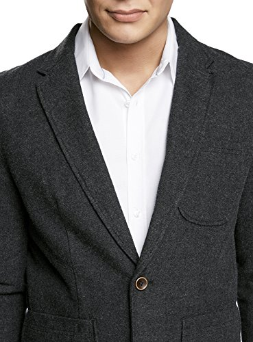 oodji Ultra Homme Veste Blazer avec Poches Plaquées Gris (2323O)