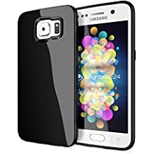 delightable24 Protección Caso Case de la Cubierta de TPU Silicona Jelly SAMSUNG GALAXY S6 Smartphone - Negro