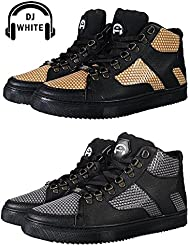 DJ White Mastering 01 Gold & Silver High Top Sneakers/Schuhe