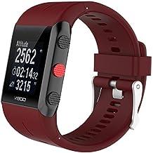 Banda de la correa de pulsera Para Polar V800, Magiyard Silicona de repuesto de caucho correa de reloj banda de muñeca (Rojo)