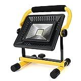 Ulanda 50W LED COB Baulicht Arbeitslampe Arbeitsleuchte Bauscheinwerfer 2400LM IP65 Wasserdicht Strahler Handlampe Tragbare Baustrahler Arbeitsscheinwerfer Scheinwerfer mit 4 Lichtmodi für Arbeiten