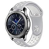 10principales Samsung Gear S3Bracelet de montre, bracelet de rechange Bracelet Sangle en silicone pour Samsung Gear S3Frontier/classique Smart Watch M E