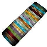 Mengjie Badeküche absorbierender Rutschfester Teppichboden, Farbe vertikale Holzplatte Flanellbodenmatte, 50 * 120 cm, Holzbrett