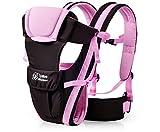 0–30meses transpirable bebé Carrier frontal 4en 1lactante cómodo Sling Mochila bolsa para el bebé canguro nuevo rosa rosa