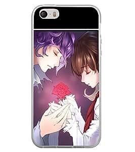 Love Couple 2D Hard Polycarbonate Designer Back Case Cover for Apple iPhone 5