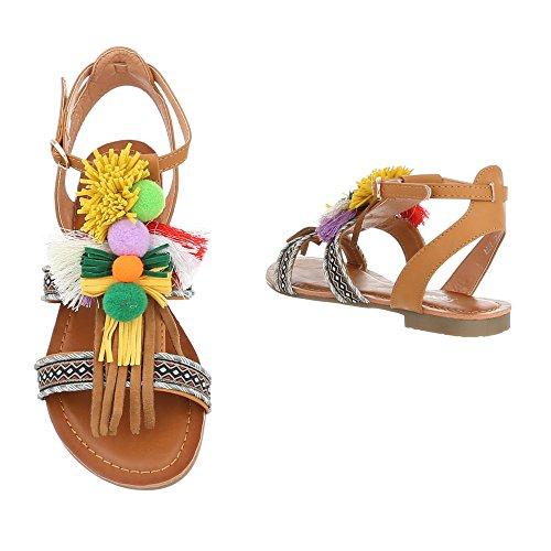 Ital-Design , Bride cheville femme Camel