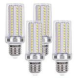 SanGlory Lampadine LED E27 15W Equivalenti a 120W, Lampadina Mais E27 Luce Fredda 6000K 108 x 2835 SMD 1720LM Super Luminoso e Risparmio Energetico Non Dimmerabile, 4 Pezzi (E27 LED Fredda)