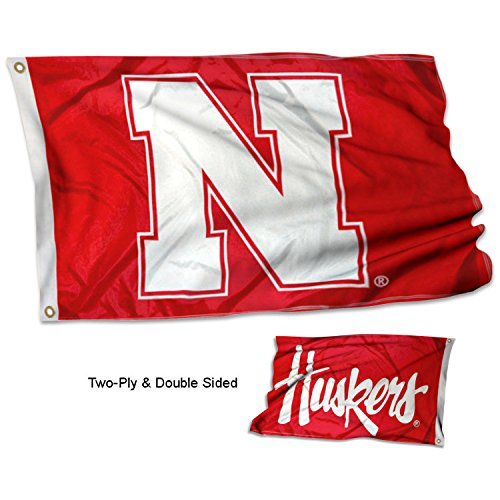 College Flags and Banners Co. University of Nebraska Zwei Logo Flagge Nebraska University