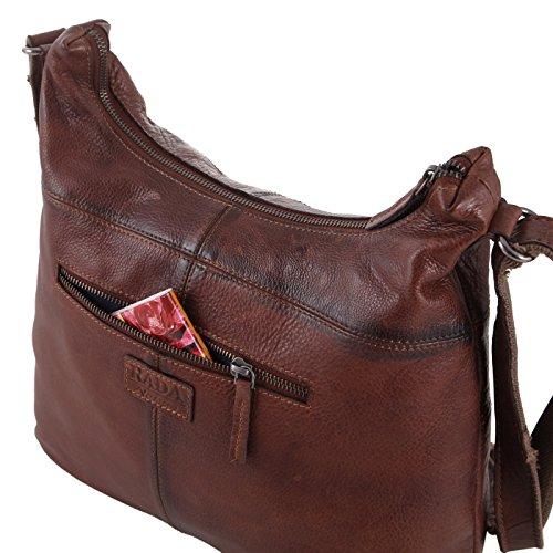 Rada Nature Umhängetasche 'La Spezia' echt Leder Handtasche in verschiedenen Farben Grau
