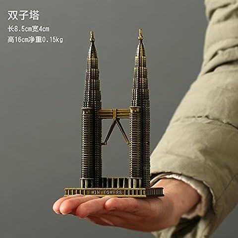 HOOM-Eiffelturm Modell desktop Dekorationen Wohnaccessoires, Petronas Twin
