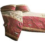 Bassetti Oplontis - Juego de funda nórdica y funda de almohada de satén, 100 % algodón, multicolor, funda de cojín 40 x 80 cm