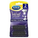 Scholl Velvet Smooth Ersatzrollen, Pedi Nachfüller, Ultra Stark mit Diamantpartikeln, 1er Pack (1 x 2 Stück)