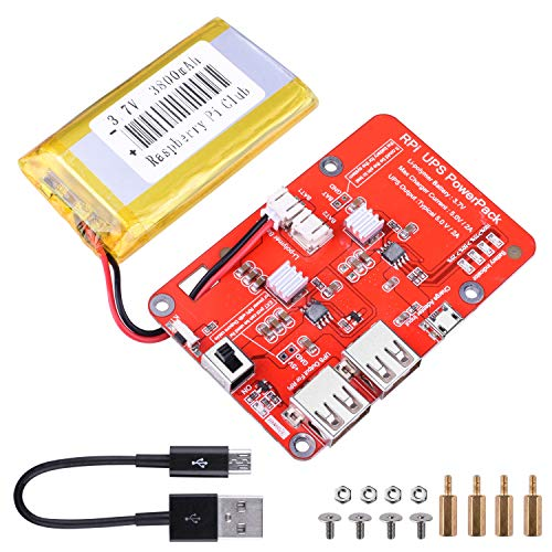 Battery for Raspberry Pi - Supports UPS Function, Power supply 3.7V / 3800the RPI mAh 3 Modelo B / Pi 2B / B and Cell UNIROI