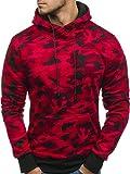 BOLF Herren Kapuzenpullover Militär Sweatshirt J.Style DD129-1 Rot XXL [1A1]