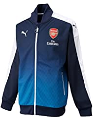 PUMA ARSENAL Stadium chaqueta para hombre Chaqueta, Black Iris-metil Blue, L, 749142 02