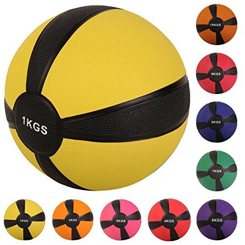 Balón medicinal deportivo 1 kg, 2 kg, 3 kg, 4 kg, 5 kg, 6 kg, 7 kg, 8