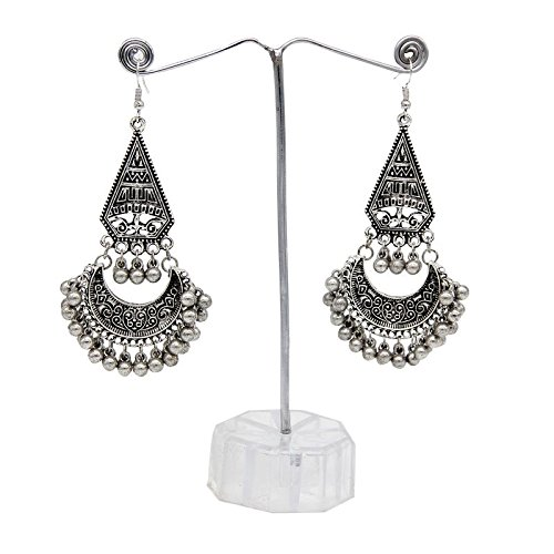 Oxidised Chandbali dangler Hook Earring  available at amazon for Rs.135