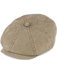 Stetson Hatteras Washed Organic Cotton Newsboy Cap - Olive