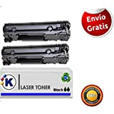 Konver 2X TONER LaserJet Pro P1102 , Toner compatible K285A, 85A - Sustituye CE285A, 85A .Enviado desde Madrid.