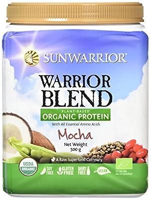 Sunwarrior Warrior Blend Organic Raw Vegan Protein Powder, Mocha, 500g