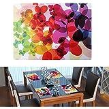 Sets de Table, Danibos Lot de 4 sets de table multicolore en vinyle plastique design unique Art Peinture imperméable lavable en machine (400 mm * 290 mm)