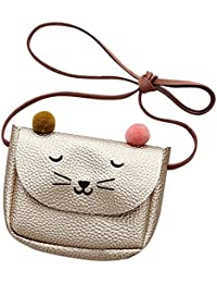 SODIAL Mini Mignon Chat Oreille Sac a bandouliere Key Coin Purse Cartoon Belle Messenger Bag Petite Fille presente (Champagne)