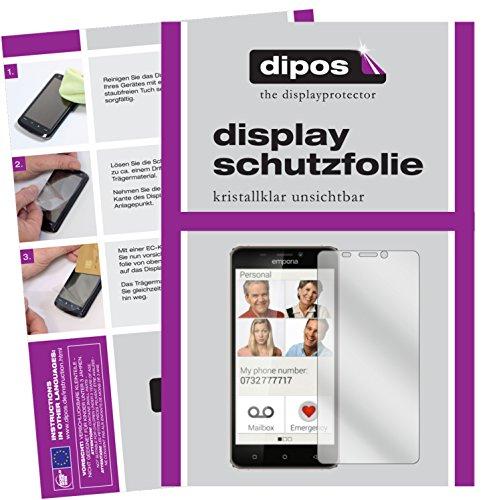 dipos I 2X Schutzfolie klar passend für Emporia SMART.2 Folie Bildschirmschutzfolie
