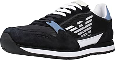 Emporio Armani Sneakers in Pelle con Logo Uomo X4X537 XM678