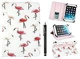 emartbuy Universal 7-8 Zoll Flamingos Mehrfachwinkel Folio Brieftasche Case Cover Mit Steckplätze Für Bankkarten Und Stylus Stift Geeignet Für Ausgewählte Geräte Aufgeführt Unten