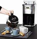 Andrew-James–Premium-Percolateur-Filtre-Programmable-en-Chrome–Avec-Moulin–Caf-Intgr-Filtre-Fin-Rutilisable-Capacit-de-12-Tasses–2-Ans-Garantie