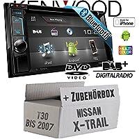 Nissan X-Trail T30 bis 2007 - Kenwood DDX4016DAB - 2DIN
